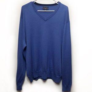 Club Room Merino Wool Blend V-Neck Sweater SZ XL